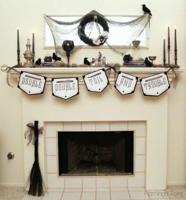 20 Halloween Mantels Mantels, Holidays and Holidays halloween