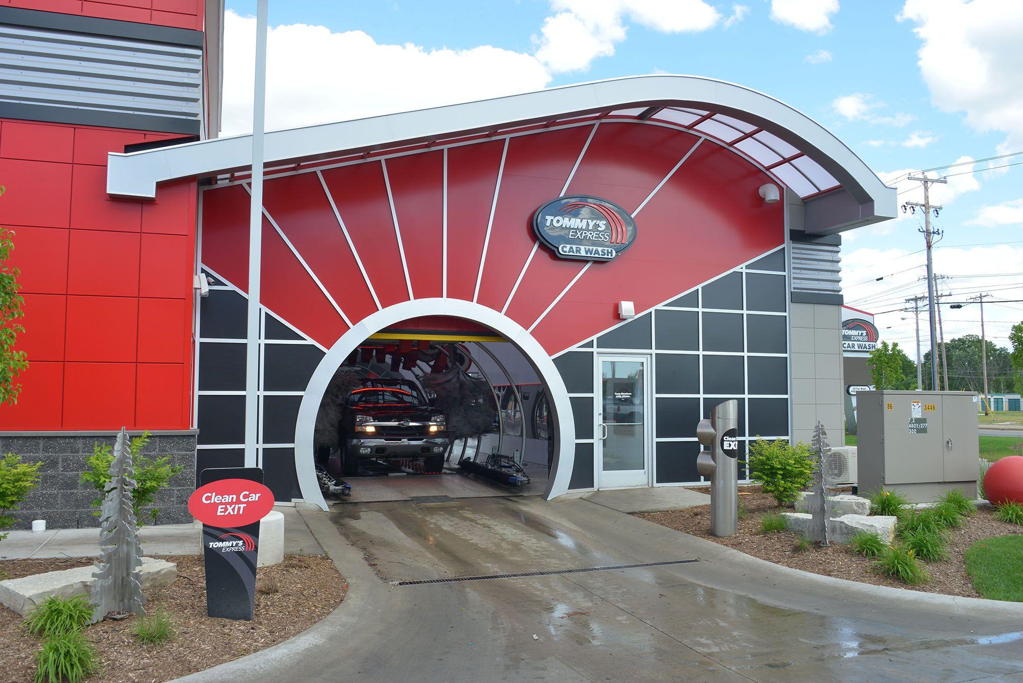 Car wash entrance and exit design garage design car