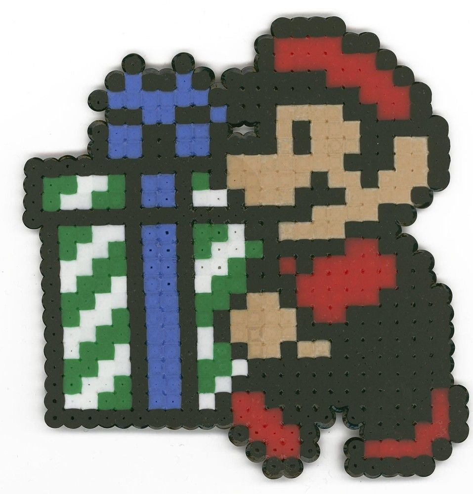 8-bit ornaments | NEO Center | Pinterest | Ornament, Perler beads ...