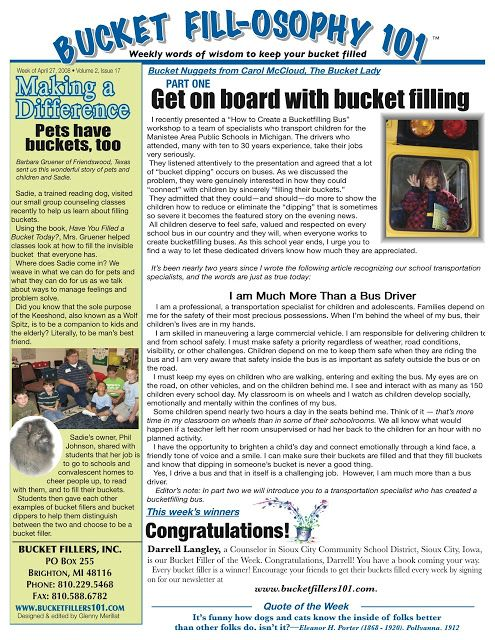 The Corner On Character Our Bucket Filling Journey Bucket Filling Guidance Lessons Book Bucket