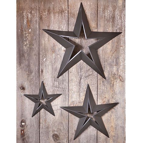 24 Metal Rustic Dimensional Barn Star Indoor Outdoor Wall