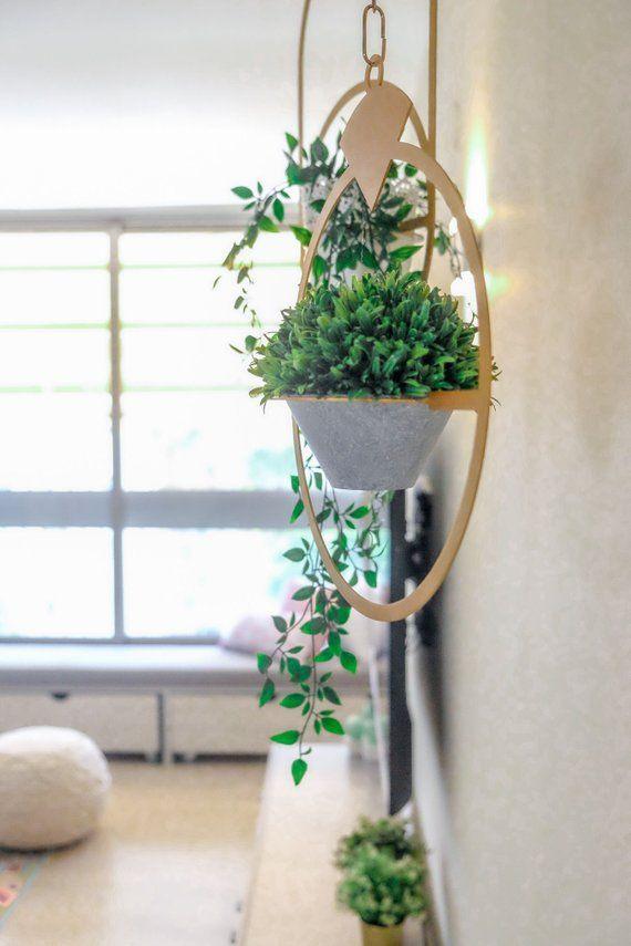 Plant Hanger Black Hanging Decor Bohemian Home Décor