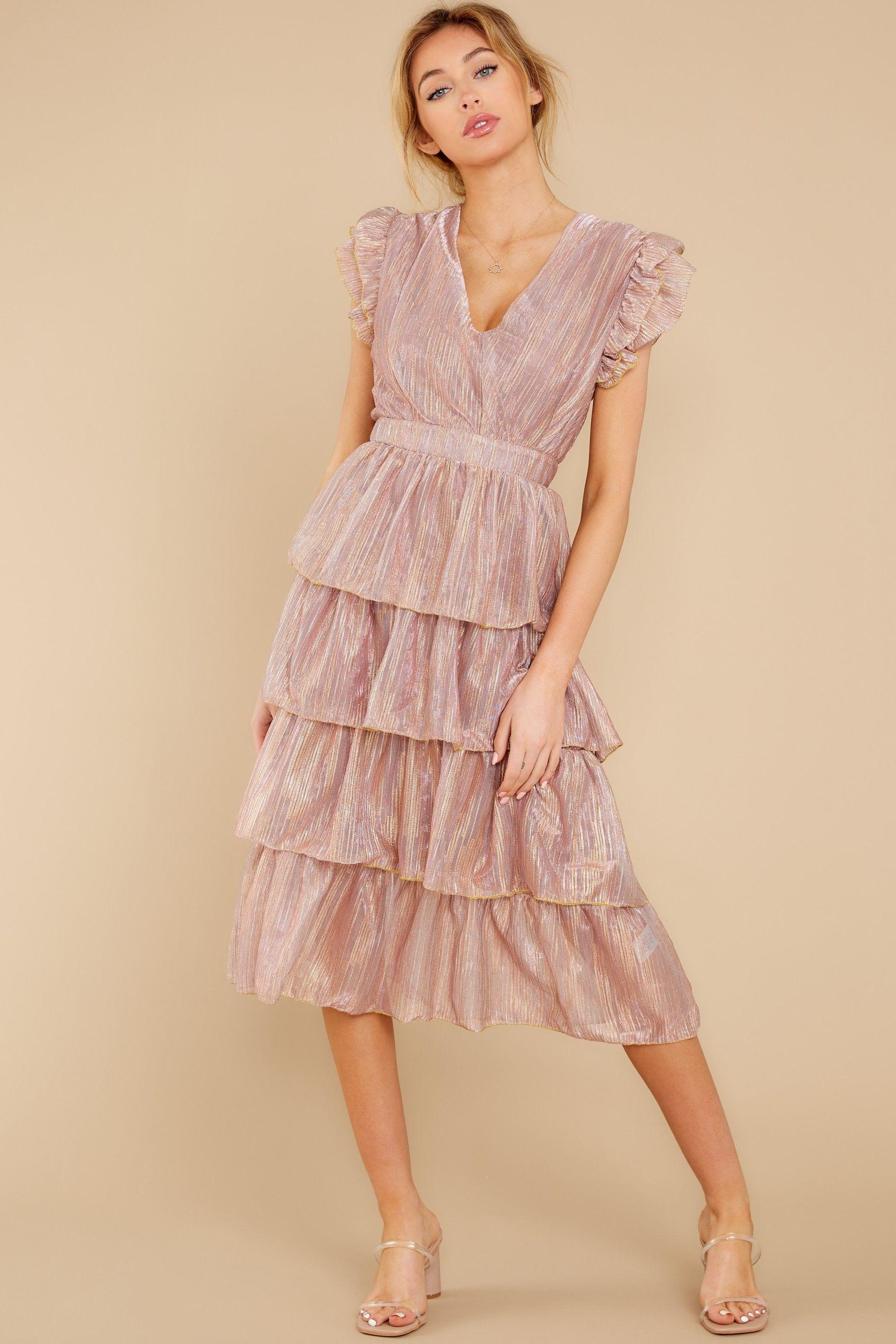 Tiered Blush Pink Midi Dress Affiliatelink Springdresses Dresses Weddingguestdress Weddingguest Outfits Cuteoutfi Pink Midi Dress Dresses Unique Dresses [ 2738 x 1825 Pixel ]