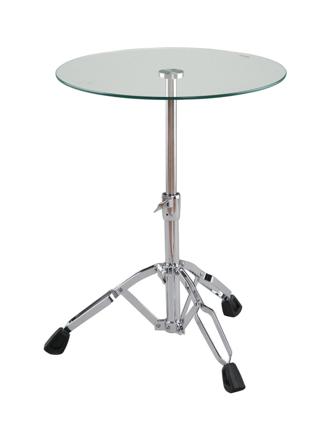 Drum Side Table It S An Incredibly Sturdy And Infinitely Adjustable Drum Stand But Right Where You Expect The Drum Is A 20 Side Table Table Drum Side Table