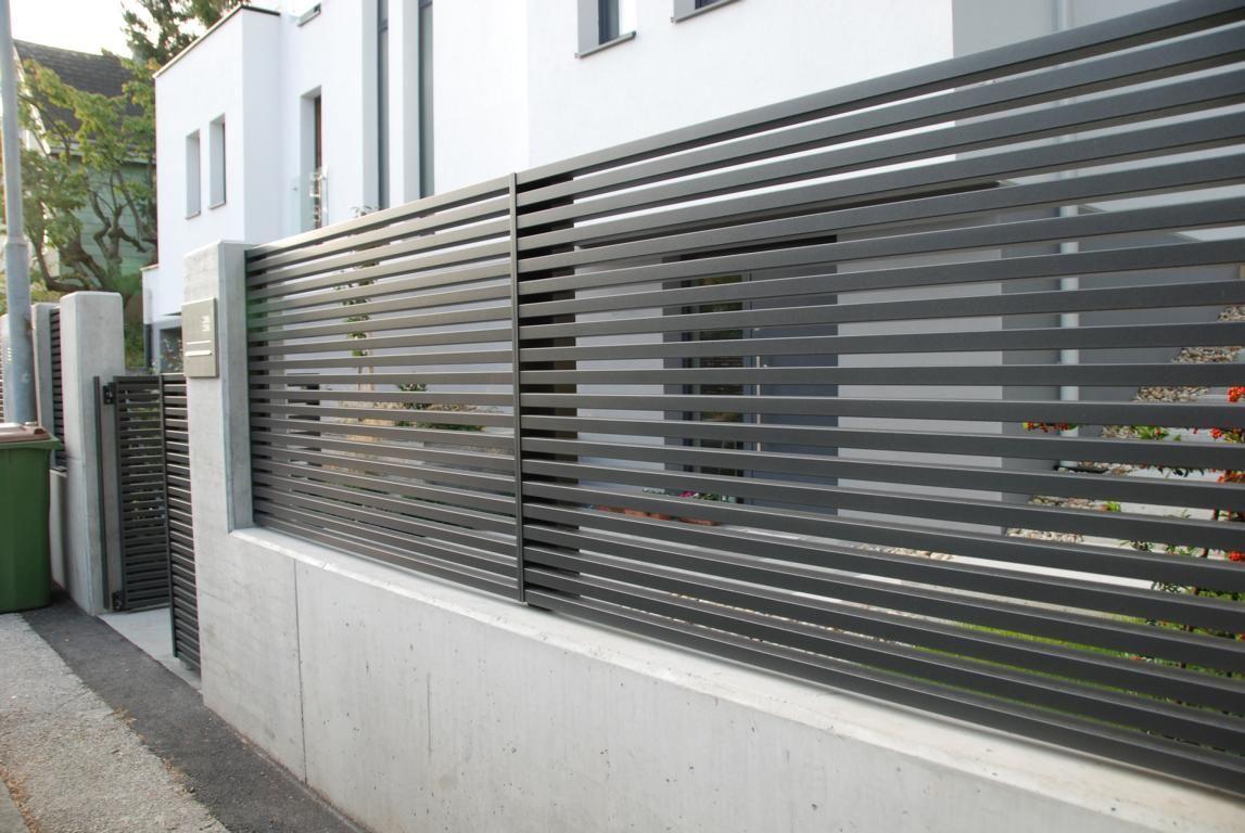 Brilliant Zaun Design Referenz Von Aus Aluminium