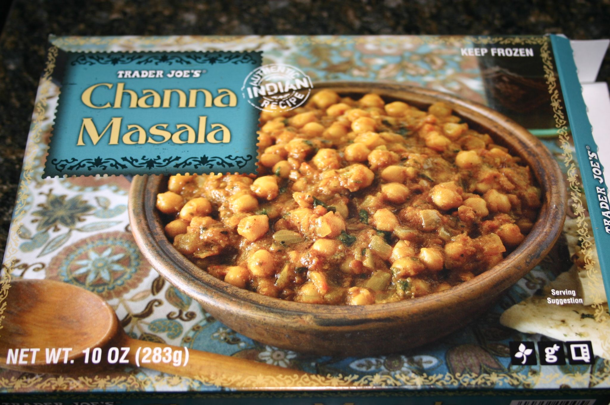 TJs Channa Masala - much better than other frozen versions I've tried. Yum.