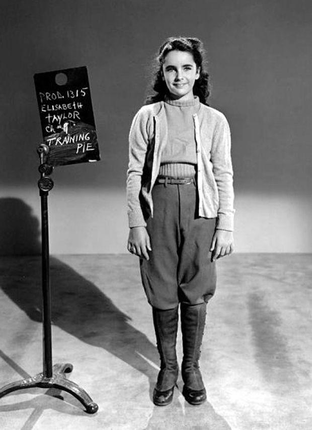 Costume test of Elizabeth Taylor in National Velvet ...