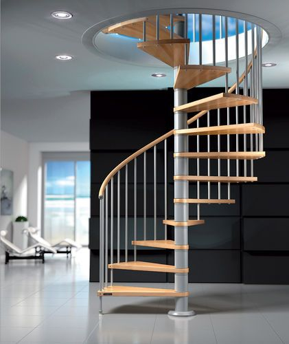 Best Spiral Staircase Metal Frame And Wooden Steps Fox 640 x 480