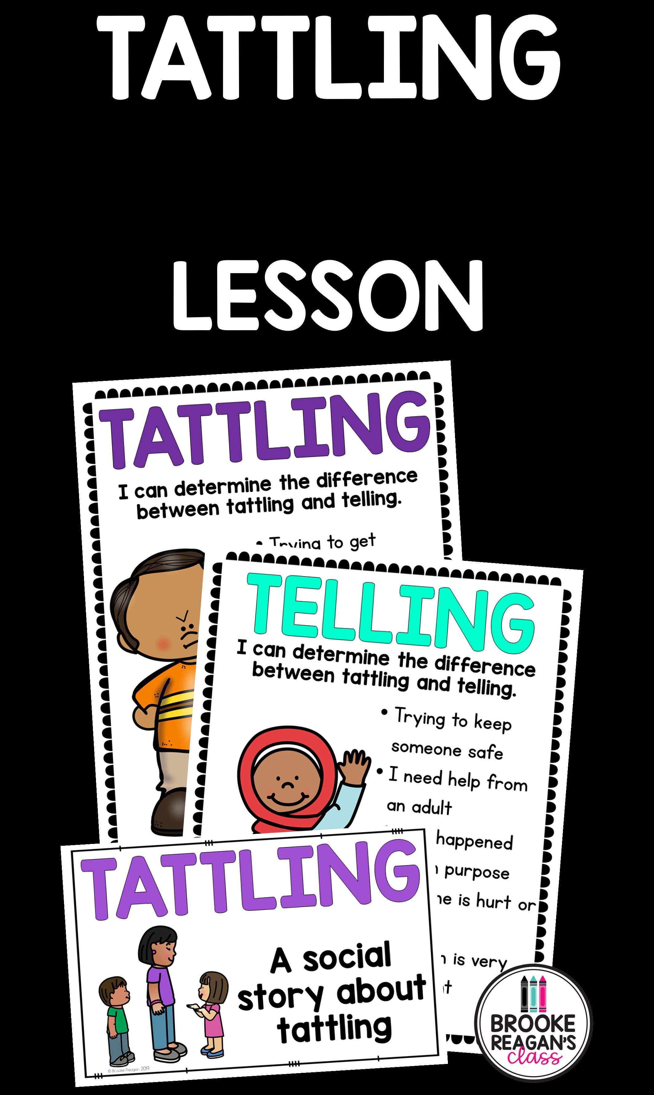 Social Skills Lesson Tattling Vs Telling