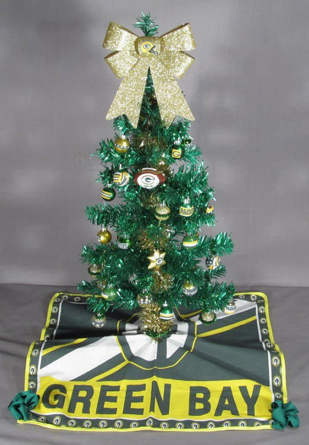 Green Bay Packers Mini Tree Green Bay Packers Green