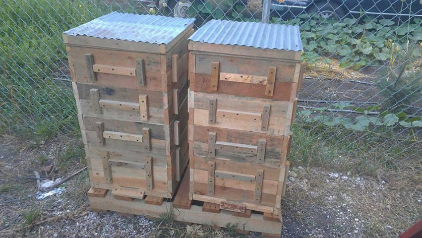 Beehive boxes made from pallet wood. Cool!