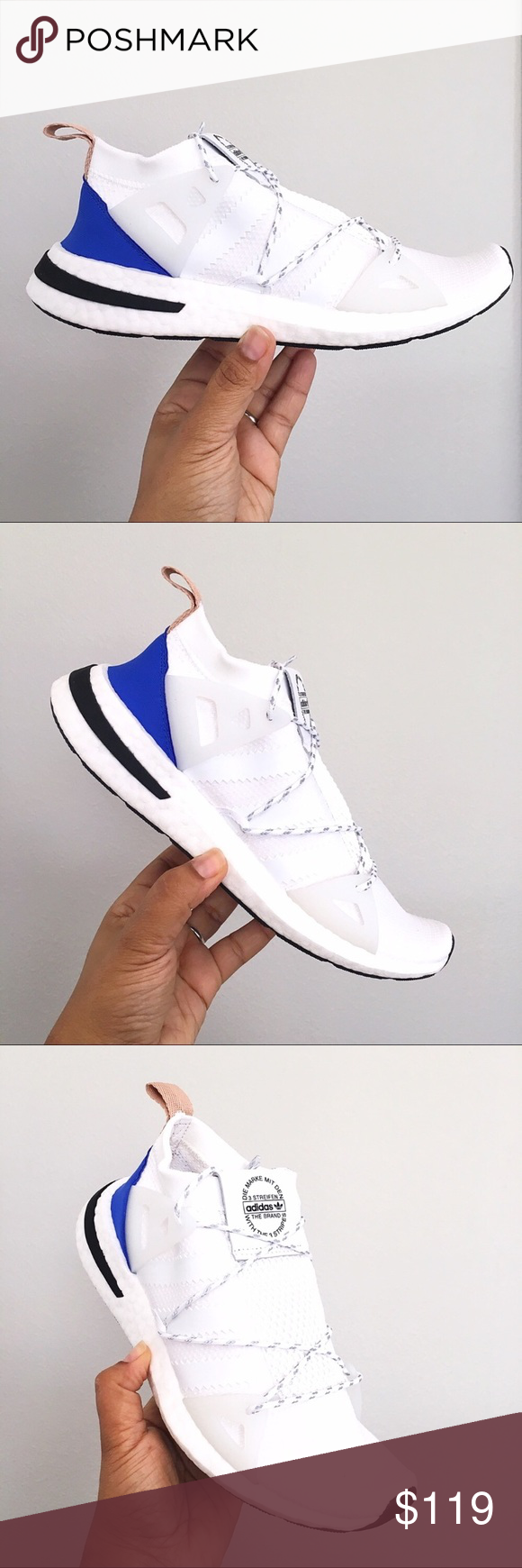 46fbddbc912278 Adidas Arkyn Cloud White Ash Pearl Women s shoes Brand New in Box with Lid  - Adidas