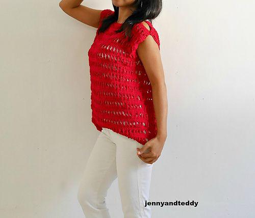 Ravelry: peek a boo summer top pattern by jennyandteddy