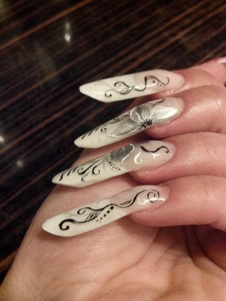 Forme Extreme Unghii Gel Silver Rings Rings și Jewelry