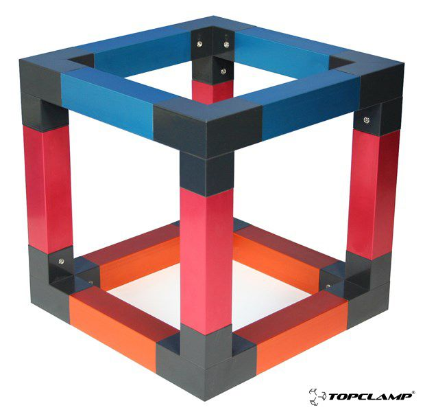 Image Result For Metal Square Tube Connectors Hinge And Bracket Minimalist Wood Furniture Exhibition Display Design