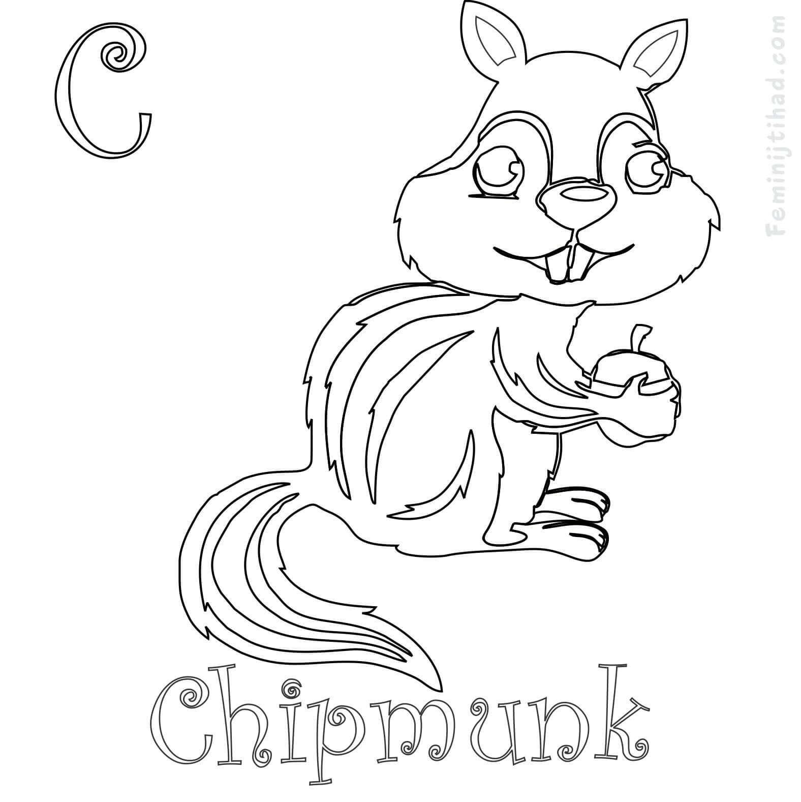 Cute Chipmunk Coloring Pages Collection In 2020 Animal Coloring Pages Coloring Pages Chipmunks
