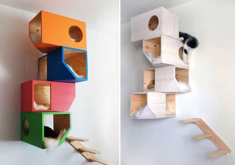 arbre chat design comment fabriquer un arbre chat diy pinterest chats design et id e. Black Bedroom Furniture Sets. Home Design Ideas