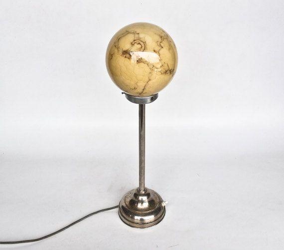 Antique Table Floor Lamp Art Deco Bar Light Clichy Etsy Floor Lamp Glass Globe Bar Flooring