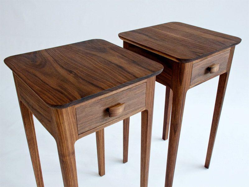 Best Petite Nightstand No 1 Modern Wood Night Stand Walnut 640 x 480