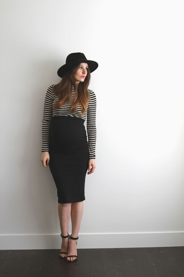 6393ec643fecb 3 very easy maternity pencil skirt diys | Maternity + Baby ...