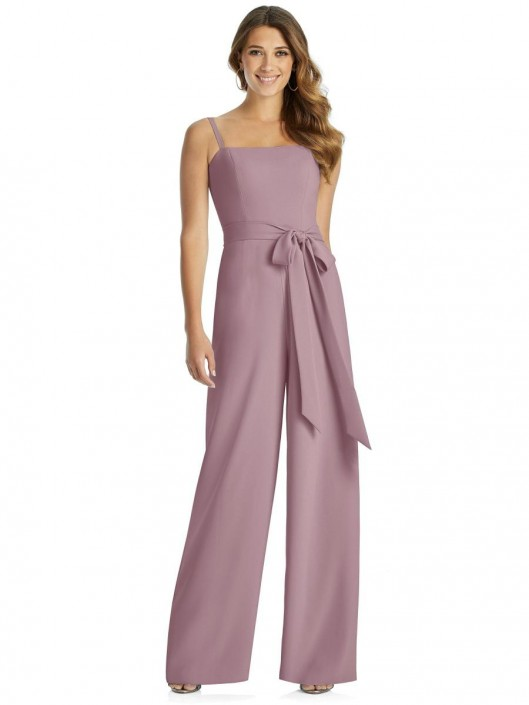 Dessy 3045 Trendy Bridesmaid Jumpsuit