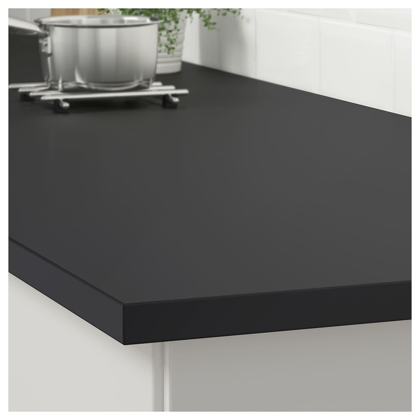 Ekbacken Countertop Matte Anthracite Laminate 98x1 1 8 Ikea