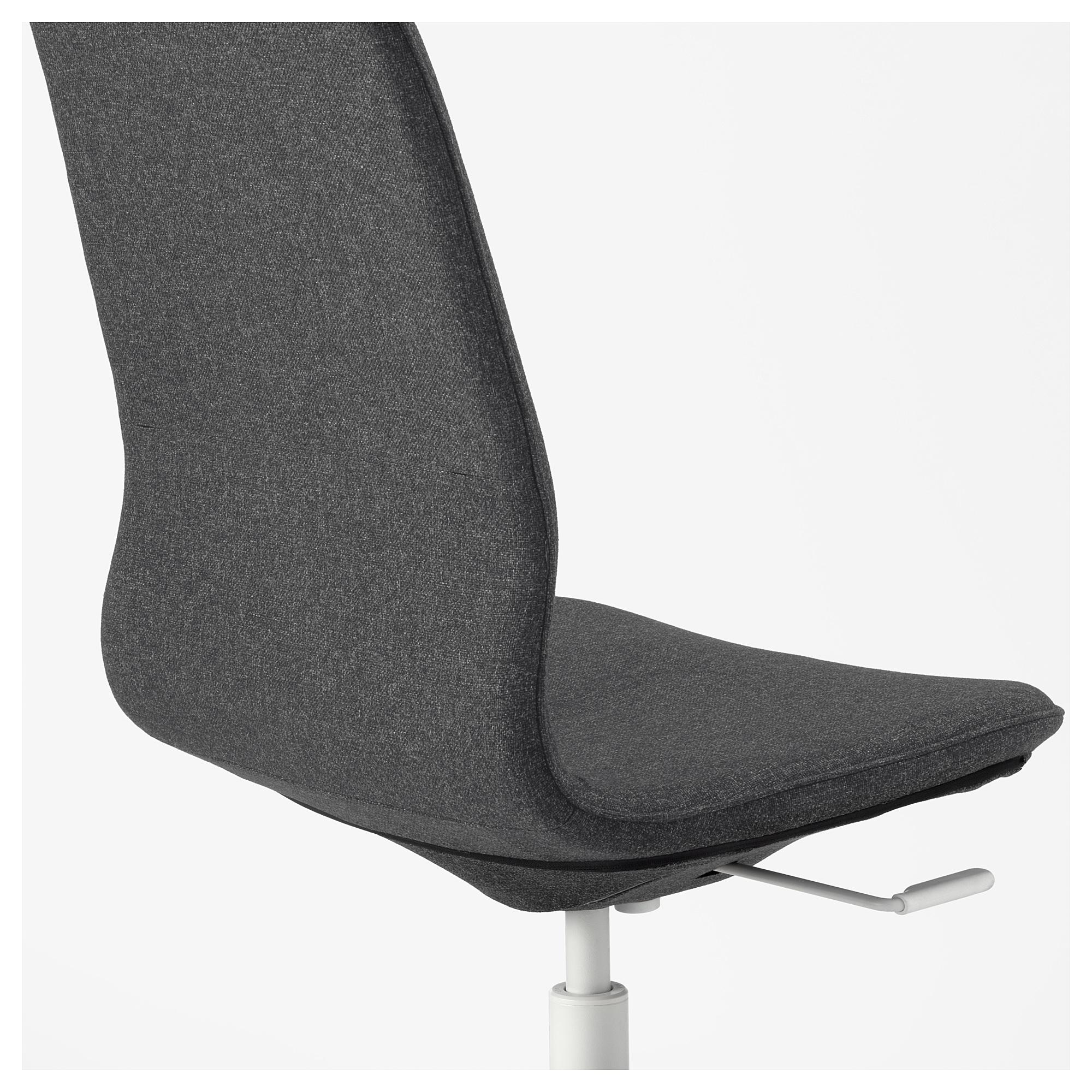 IKEA LÅNGFJÄLL Office chair Gunnared dark gray, white