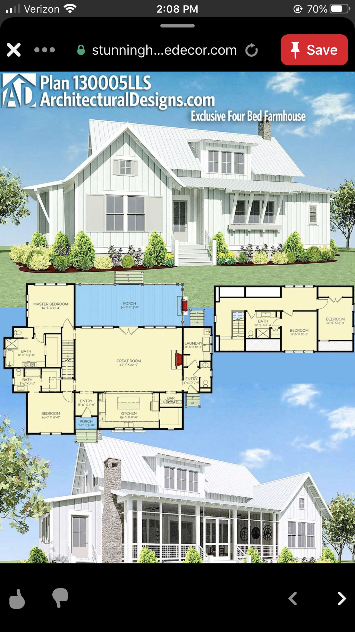 Pin By Michelle On Dream Lake House Plan In 2020 Lake House Plans Lake House House Styles