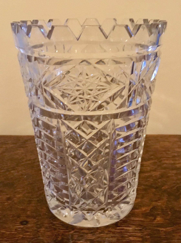 Vintage cut glass vase by memorylaneuk on etsy vintage must items similar to vintage cut glass vase on etsy reviewsmspy