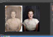 Timelapse+mostra+restauração+e+colorização+de+foto+antiga