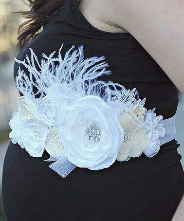 Corsage Blanco Cinto Para Embarazadas Cinturon De Maternidad