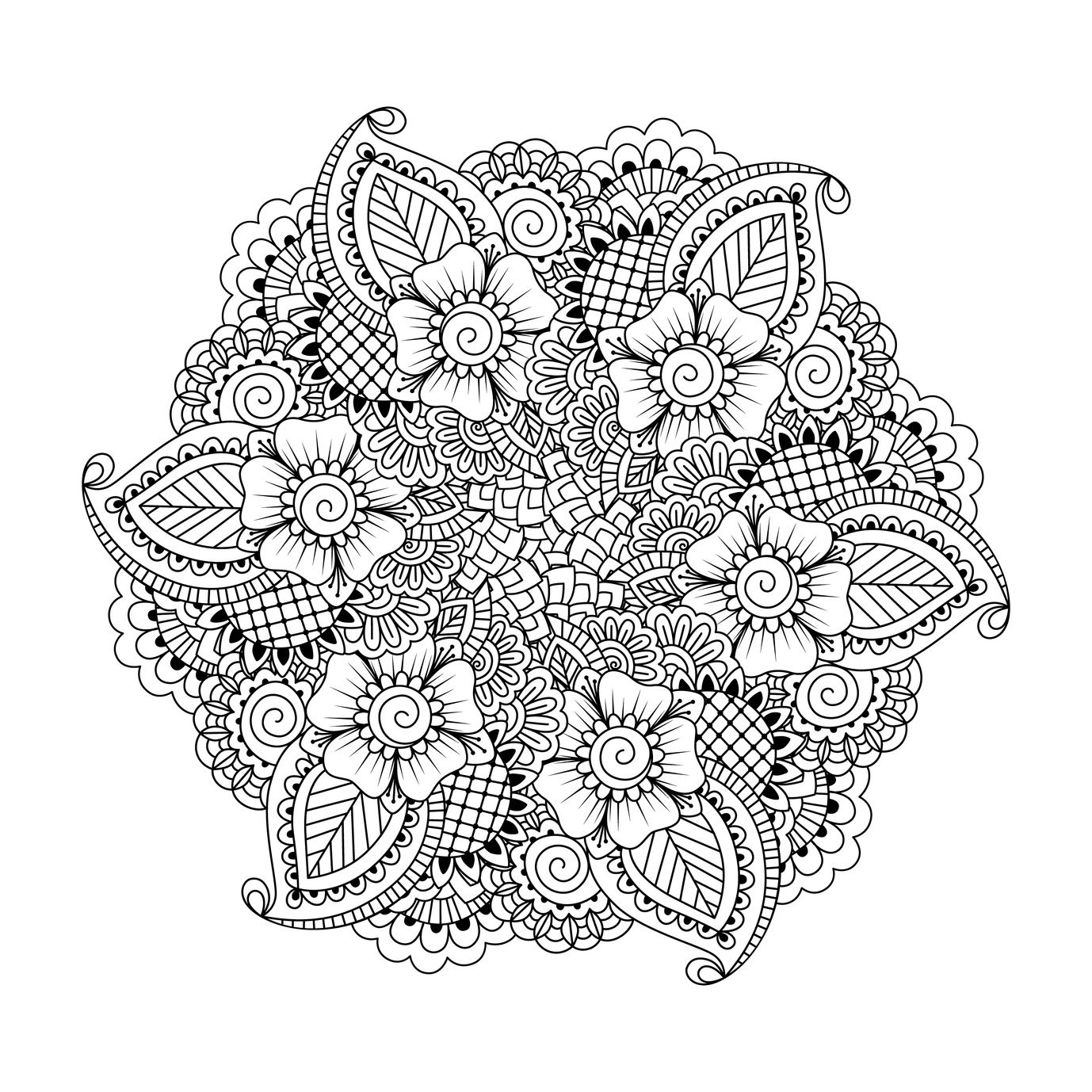 Stress relief coloring pages mandala - These Printable Abstract Coloring Pages Relieve Stress And Help You Meditate