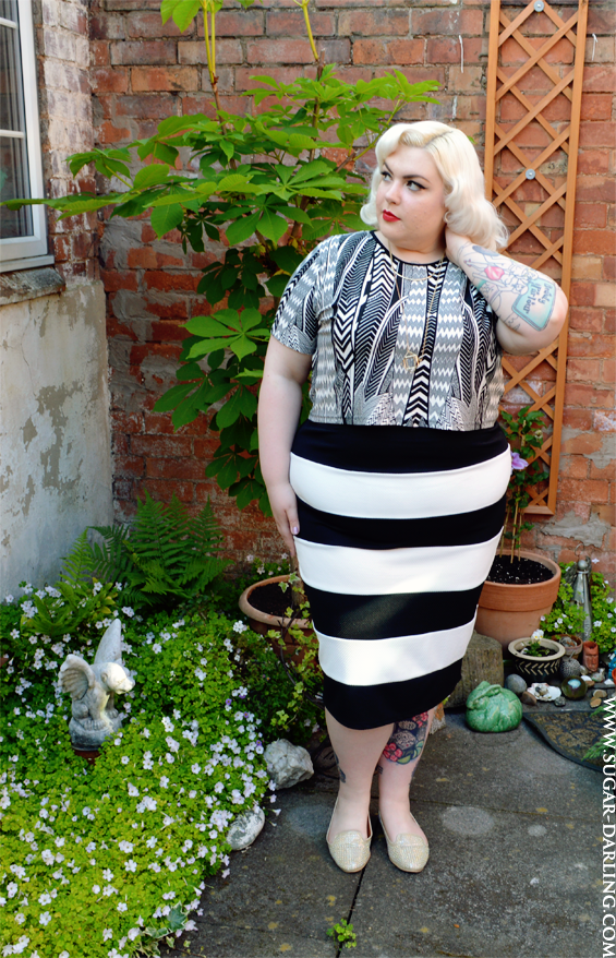 Breaking The (Plus Size) Rules - Horizontal Stripes & a Crop Top from Simply Be!