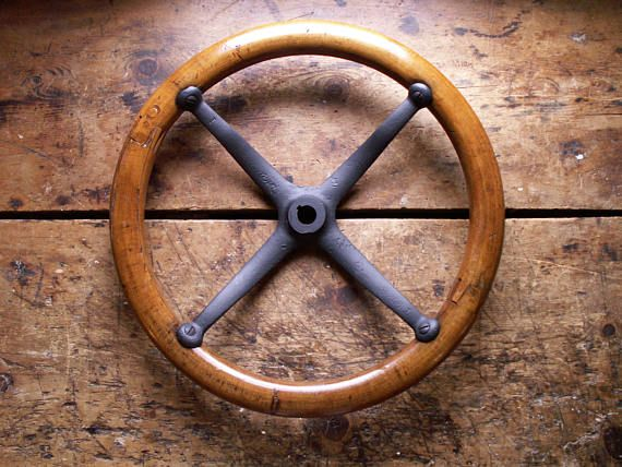 Antique Ford Model T Steering Wheel Wood And Cast Iron