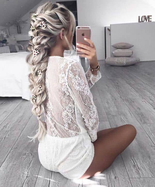 Photo of 50 hermosas trenzas peinados para cabello largo #frisuren #langes #wunderscho …