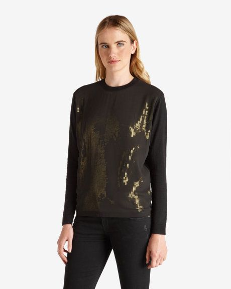 Sequin jumper - Black   Knitwear   Ted Baker NEU
