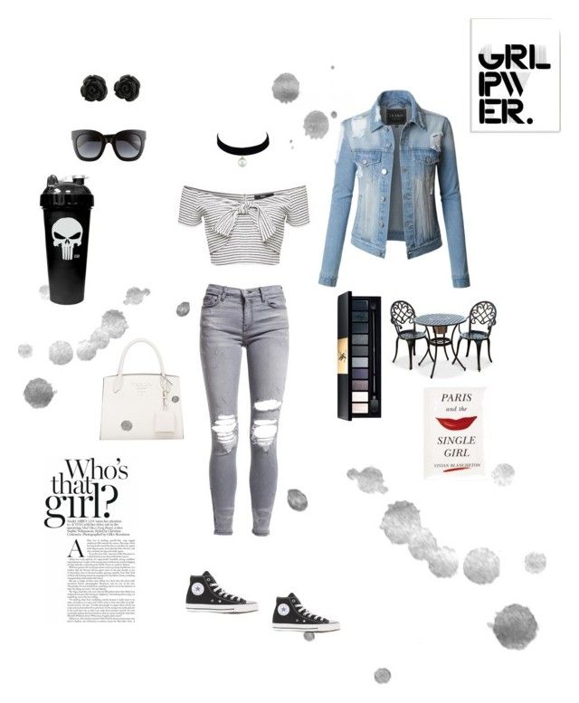 """""""Who's that girl ?"""" by catherinekate on Polyvore featuring LE3NO, AMIRI, Gucci, John Lewis, Kate Spade and Stupell"""