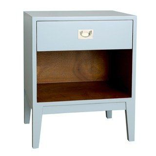 Carson Carrington Stationsby Lacquer Nightstand Blue Furniture Contemporary Nightstand