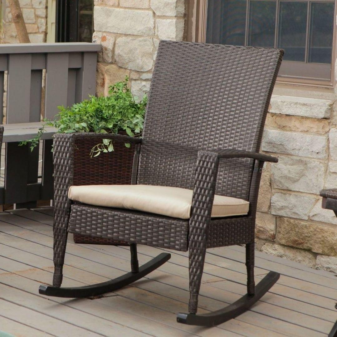 Rocking Chair Cushions Target Wicker rocking chair