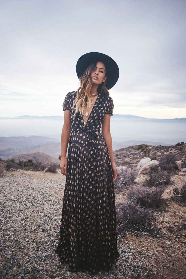 Long dress hippie instagram