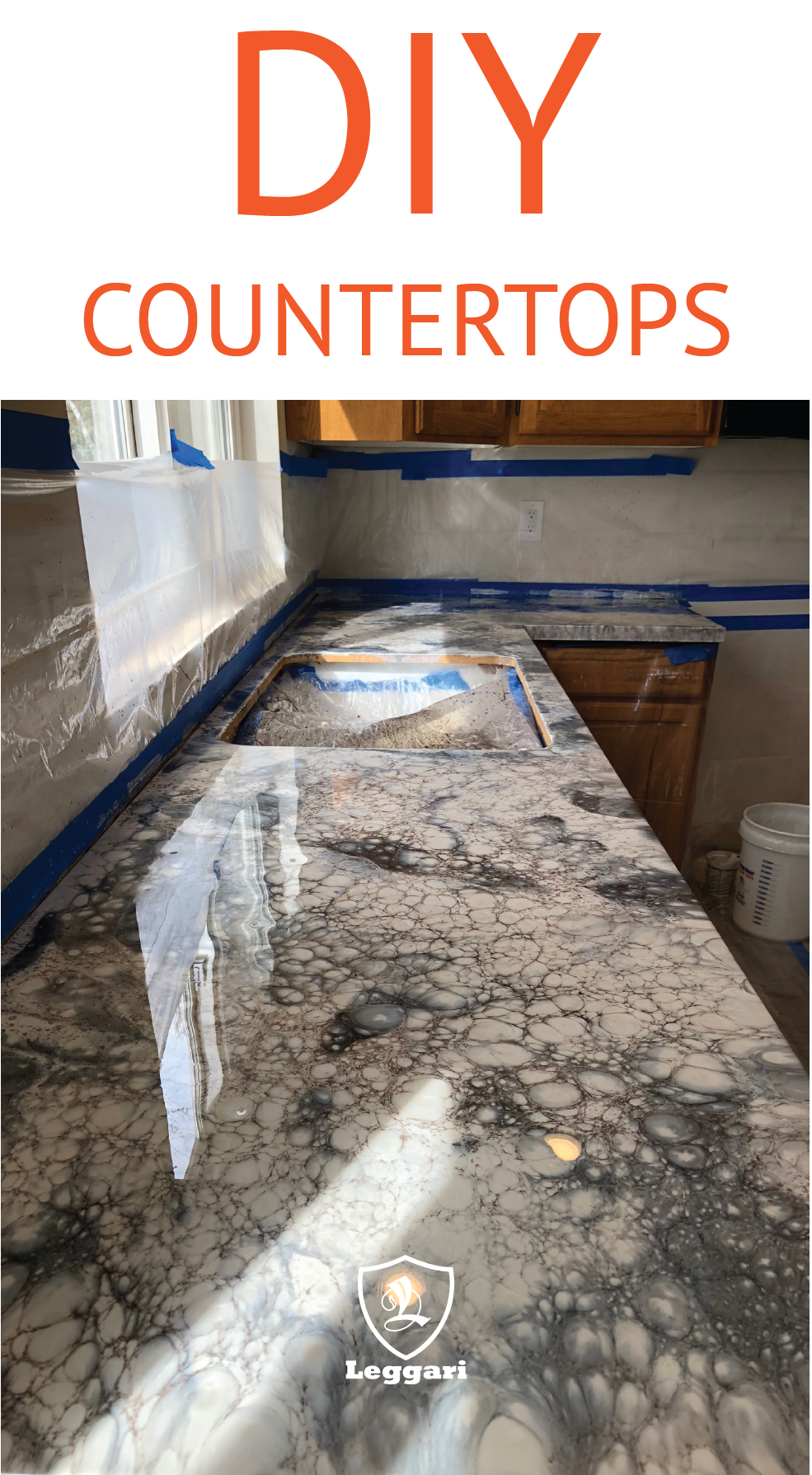 Follow Our Step By Step Tutorials And Make Your Counters Look Like This Using Leggariproducts Vi Diy Kitchen Countertops Diy Countertops Epoxy Countertop