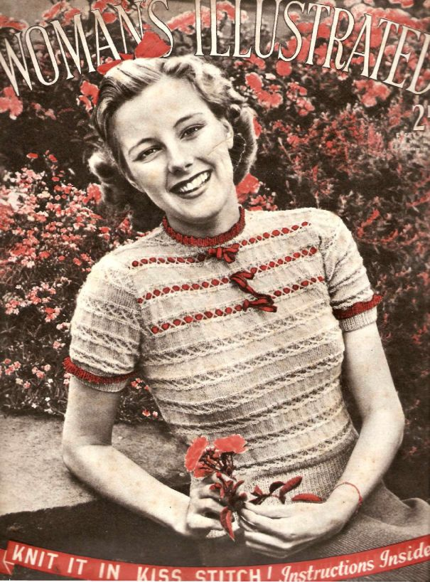 The Vintage Pattern Files: 1940\'s Knitting - Kiss Stitch Blouse ...