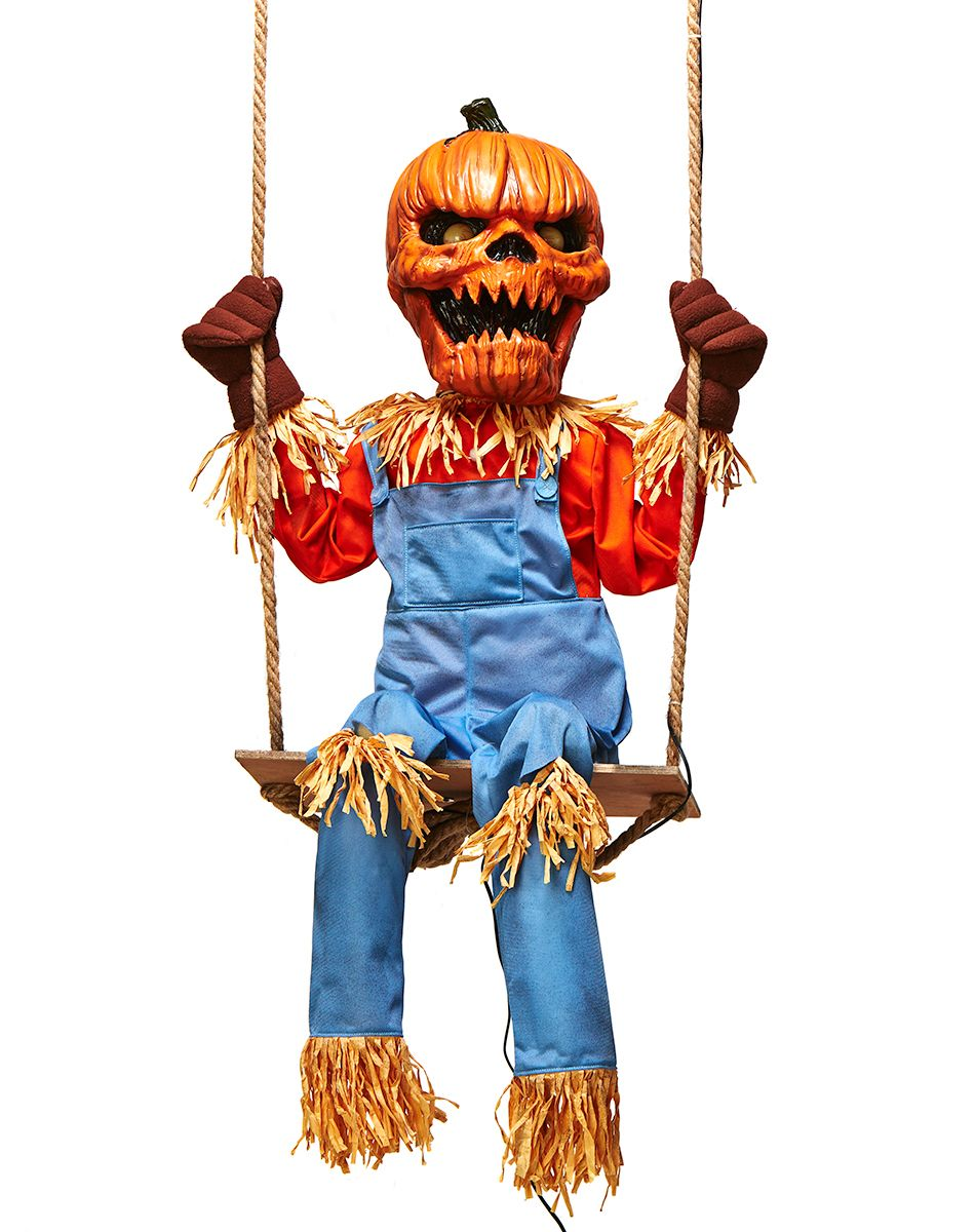Lil Nester Swinging Pumpkin Scarecrow exclusively at Spirit ...