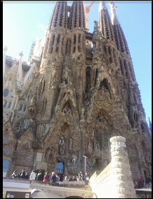 La Sagrada Familia Unfinished Church In Barcelona Spain Designed By