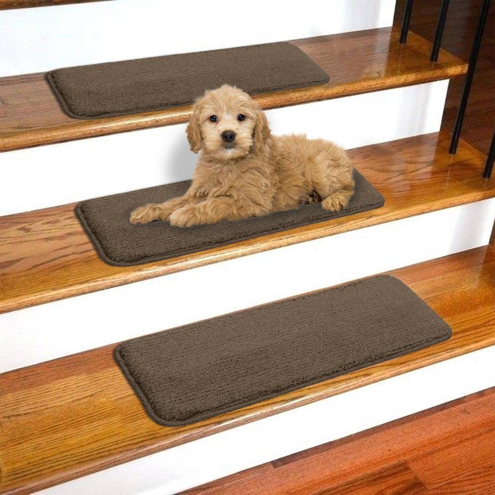 Best Ottomanson Softy Brown 9 In X 26 In Non Slip Stair Tread 640 x 480