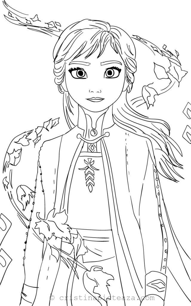 Anna From Frozen 2 Coloring Pages Cristina Picteaza Com In 2020 Disney Princess Coloring Pages Elsa Coloring Pages Cute Coloring Pages