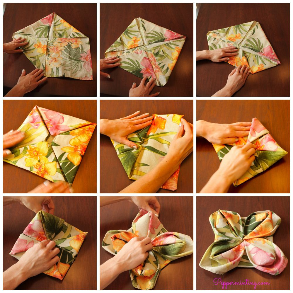 Lily Flower Napkin Fold Step By Step Easy Directions With Pictures