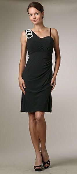 CLEARANCE - Black Semi-Formal Dress Knee