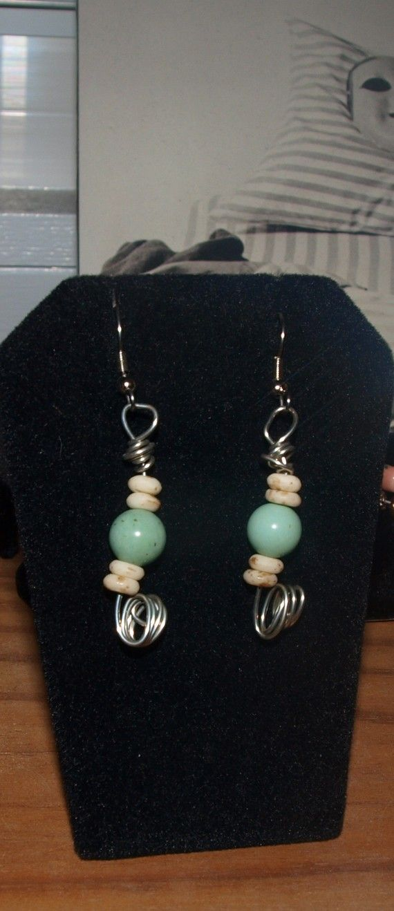 Boney Earrings by BeaderBubbe on Etsy, $5.00