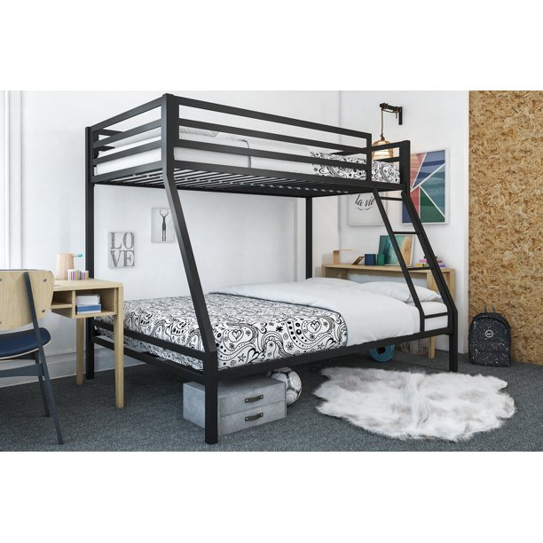 Mainstays Premium Twin Over Full Bunk Bed Multiple Colors Walmart Com Beds